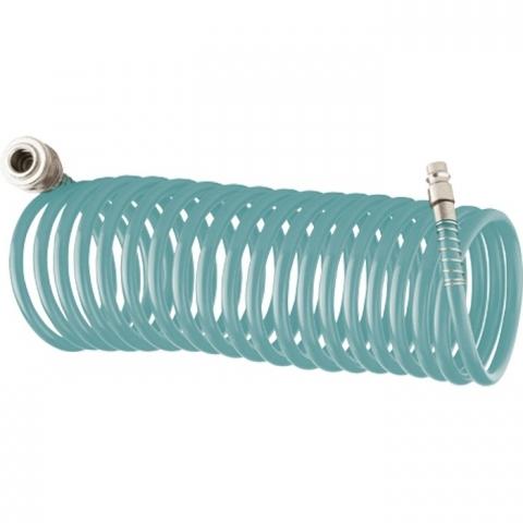 products/Полиуретановый спиральный шланг профессиональный BASF, 15 м, с быстросъемными соединением Stels, арт. 57009