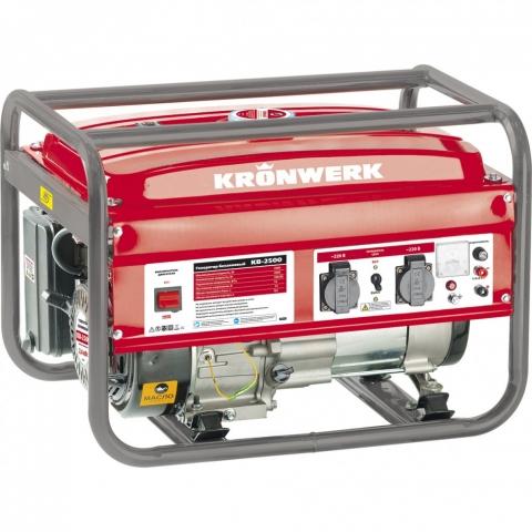products/Генератор бензиновый KB 2500, 2.4 кВт, 220 В/50 Гц, 15 л, ручной старт Kronwerk, арт. 94691