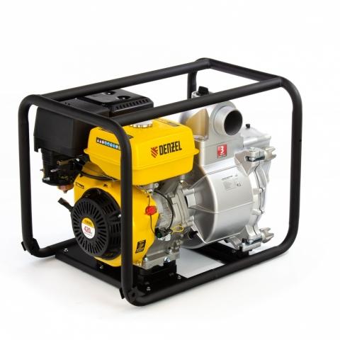 "products/Мотопомпа бензиновая для грязной воды PX-80D, 15 л.с, 3"", 1500 л/мин, глубина 8 м , напор 30 м Denzel, арт. 99204"