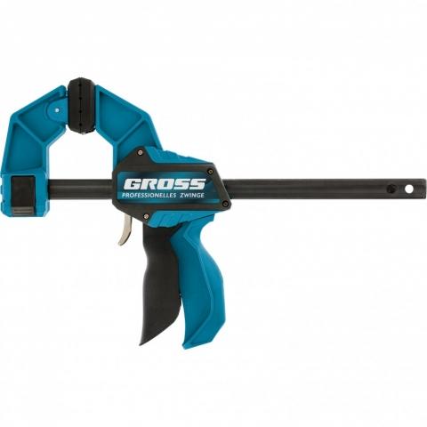 products/Струбцина реечная, быстрозажимная, пистолетного типа, пошаговый механизм, пластиковый корпус, 900 мм Gross, арт. 20708
