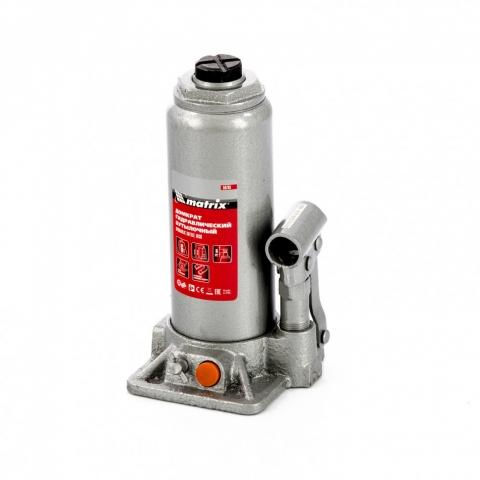 products/Домкрат гидравлический бутылочный, 6 т, h подъема 216-413 мм Matrix, арт. 50765