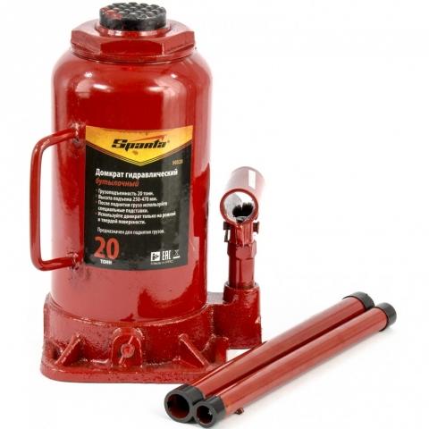 products/Домкрат гидравлический бутылочный, 20 т, h подъема 250-470 мм Sparta, арт. 50328