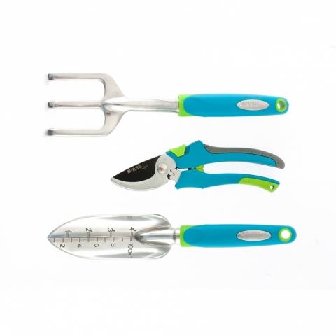 products/Набор садового инструмента с секатором, алюминиевый цельнолитой, 3 предмета, Luxe, Palisad, арт. 62901