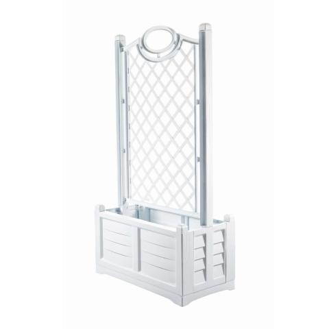 products/Ящик для цветов BAMA Separe 120л на колесах с шпалерой 150см, белый  31981