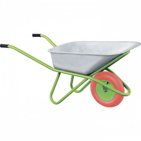 products/Тачка садово-строительная с PU колесом, грузоподъемность 180 кг, объем 90 л// Сибртех, 68968
