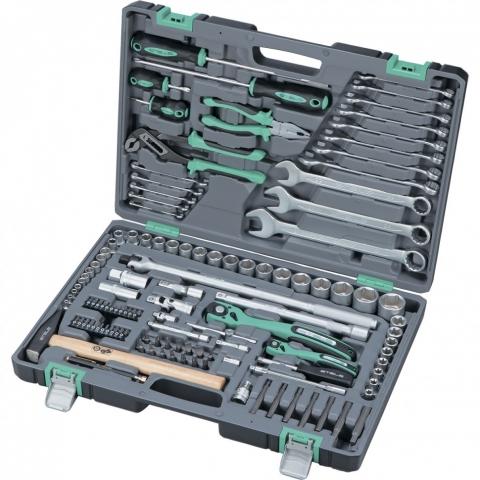 """products/Набор инструментов, 1/4"""", 1/2"""", Cr-V, S2, усиленный кейс, 119 предм.// Stels, 14112"""