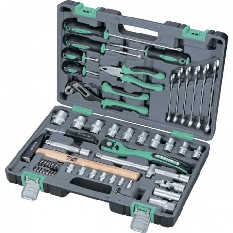 """products/Набор инструментов, 1/2"""", Cr-V, S2, усиленный кейс, 58 предм.// Stels, 14113"""