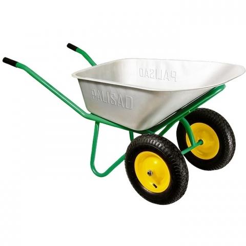 products/Тачка садово-строительная, 2-х колесная, усиленная, грузоподъемность 320 кг, объем 100 л// Palisad, 689233