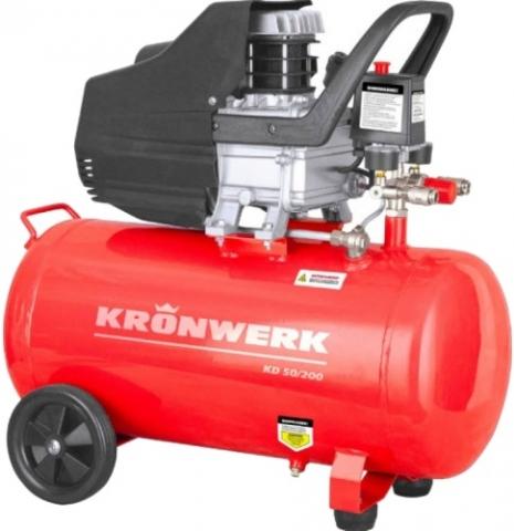 products/Компрессор воздушный KD 50/200, 1,5 кВт, 198 л/мин, 50 л, Kronwerk, 58043