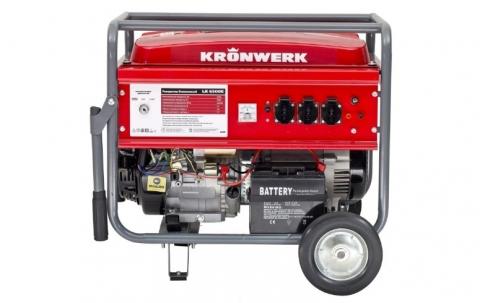 products/Генератор бензиновый LK 6500E,5,5 кВт, 230 В, бак 25 л, электростартер, Kronwerk, 94690