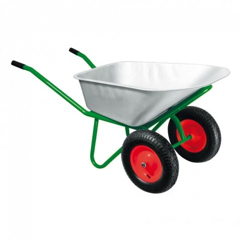 products/Тачка садово-строительная, 2-х колесная, усиленная, грузоподъемность 320 кг, объем 100 л Kronwerk, арт. 689235