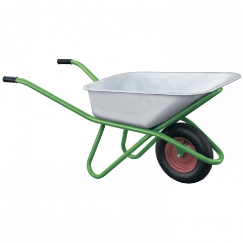 products/Тачка садово-строительная, усиленная, грузоподъемность 200 кг, объем 90 л Kronwerk, арт. 689418