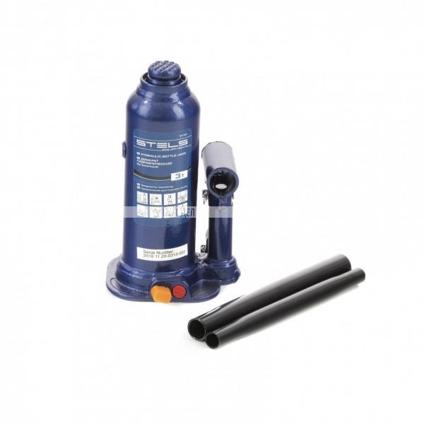 Домкрат гидравлический бутылочный, 3 т, h подъема 188-363 мм Stels, арт. 51161