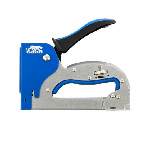 products/Степлер металлический, регулировка удара, двухкомпонентная рукоятка, тип скобы: 53, 4-14 мм Барс, арт. 40003