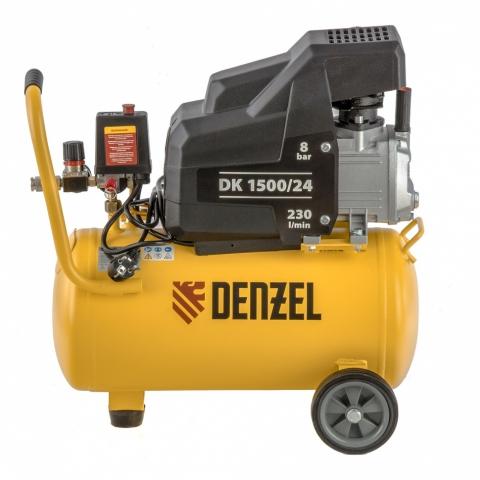 products/Компрессор воздушный DK1500/24,Х-PRO 1,5 кВт, 230 л/мин, 24 л// Denzel,58063