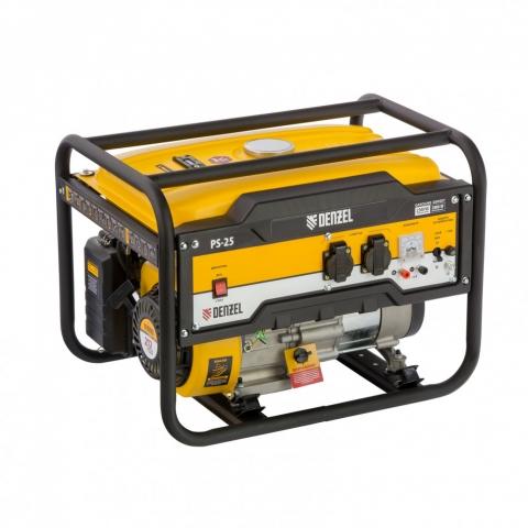 products/Генератор бензиновый PS 25, 2,5 кВт, 230В, 15л, ручной стартер// Denzel, 946814