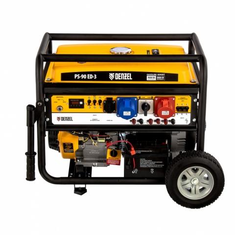products/Генератор бензиновый PS 90 ED-3, 9,0кВт, переключение режима 230В/400В, 25л, электростартер// Denzel, 946944