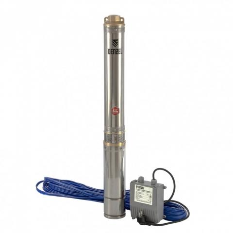 """products/Скважинный насос DWC-4-80, центробежный, диаметр 4"""", 1500 Вт, 5700 л/ч, напор 80 м// Denzel, 97256"""