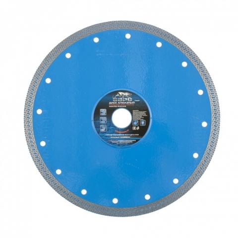 products/73097 Диск алмазный Сплошной ф230х22,2 мм, тонкий, сухое/мокрое резание// Барс