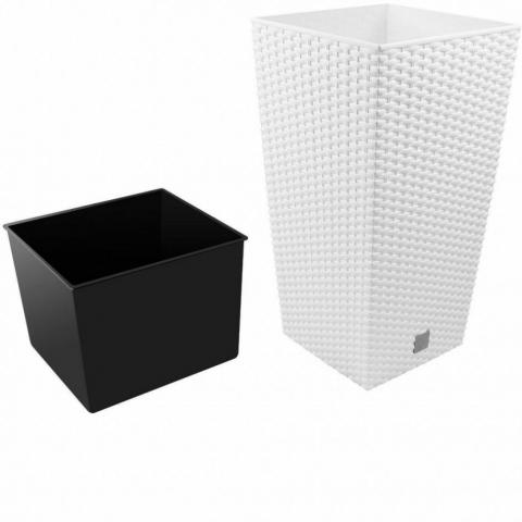 products/Кашпо для цветов Prosperplast RATO SQUARE белый 2 предмета 37 и 91,5л DRTS400-S449
