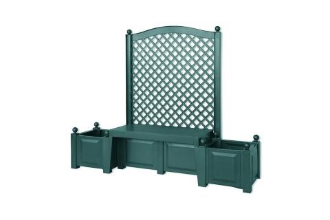 products/Садовая скамейка KHW Копенгаген (2 коробки), зеленая 43503