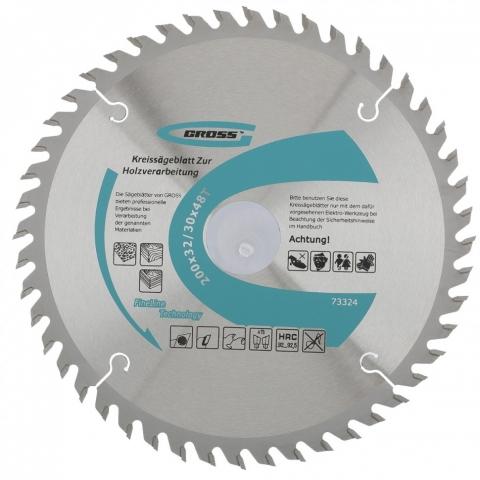 products/Пильный диск по дереву ф200 х 32 мм, 48 зубьев + кольцо 32/30мм// Gross 73324