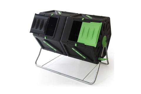 products/Двойной вращающийся компостер HELEX 2x105 л, черный/зеленый H821