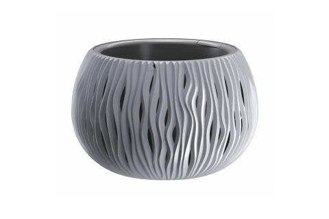 products/Кашпо для цветов Prosperplast SANDY BOWL серый 2 предмета DSK240-405U