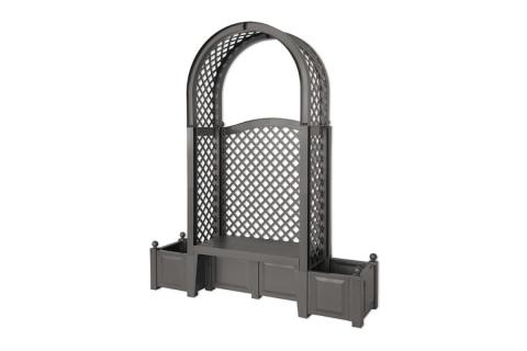 products/Садовая скамейка KHW Амстердам (2 коробки), антрацит 43805