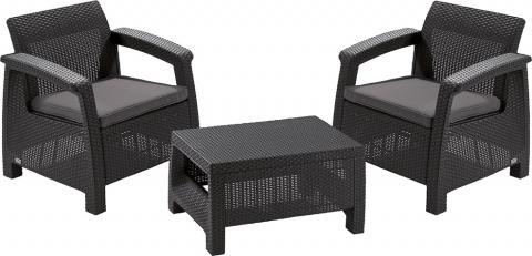products/Комплект мебели Keter CORFU II WEEKEND SET brown 17197786B