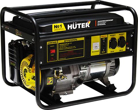 products/Электрогенератор DY6500L Huter, ручной стартер, 5000 Вт, 64/1/6