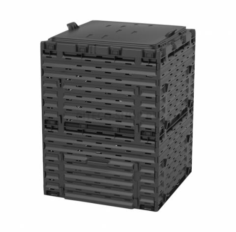 products/Компостер с крышкой Piteco 300 л, чёрный K1130