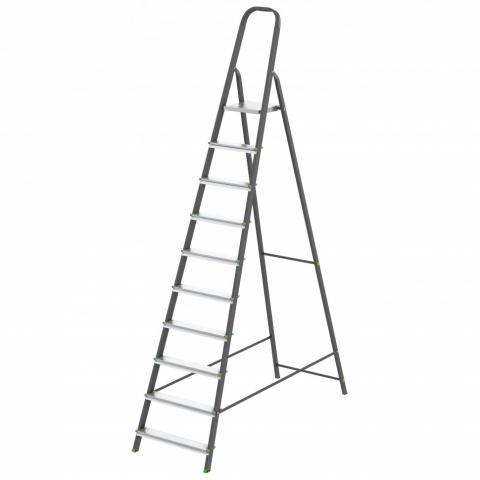 products/Стремянка, 10 ступеней, стальной профиль, алюминиевые ступени, Россия // Сибртех 97960