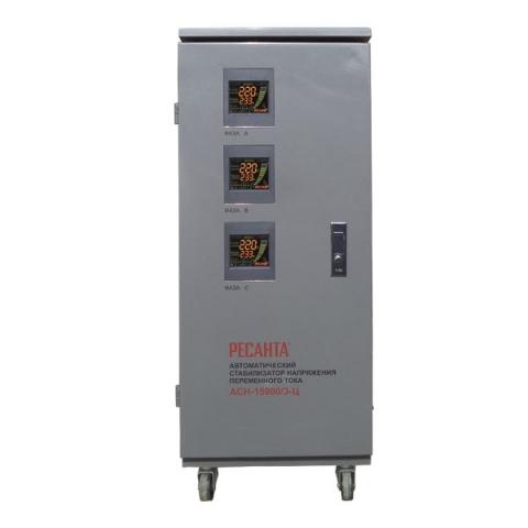 products/Стабилизатор трехфазный АСН-15000/3-Ц Ресанта