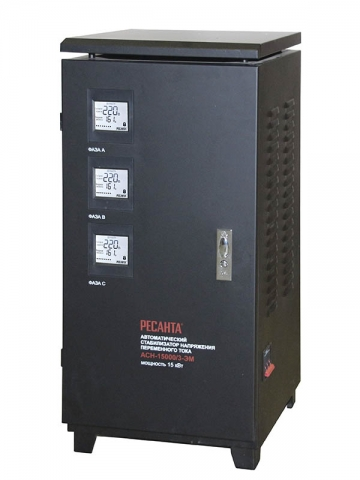 products/Стабилизатор трехфазный АСН-15000/3 Ресанта