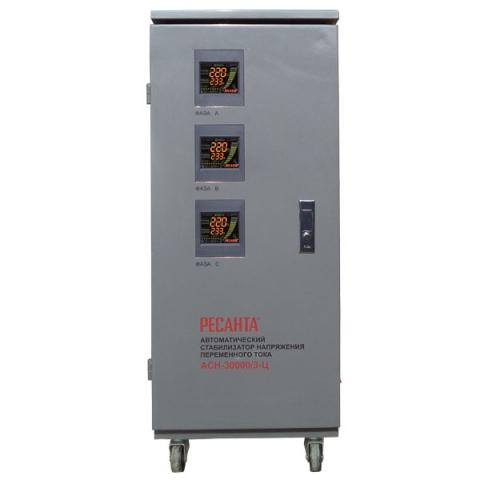products/Стабилизатор трехфазный АСН-30000/3-Ц Ресанта