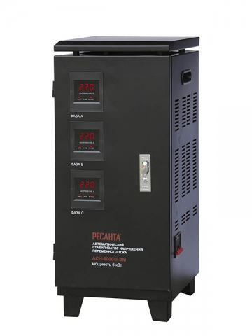 products/Стабилизатор трехфазный АСН-6000/3 Ресанта