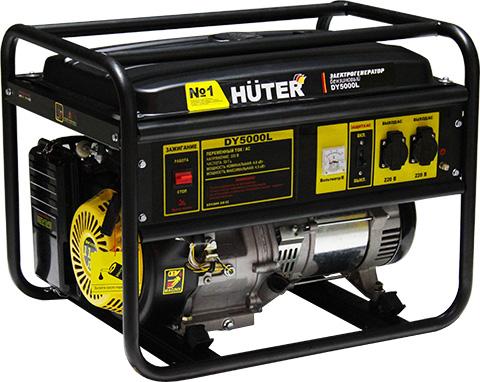 products/Электрогенератор DY5000L Huter, ручной стартер, 4000 Вт, 64/1/5