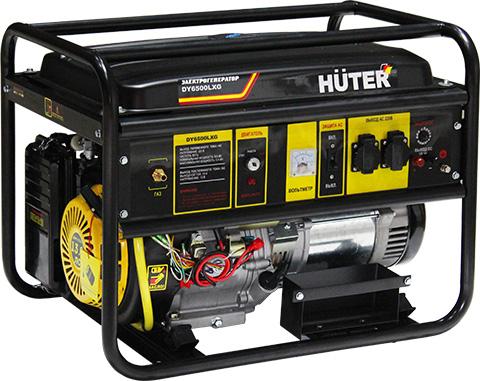 products/Электрогенератор DY6500LXG Huter, электростартер, ручной стартер, 64/1/32