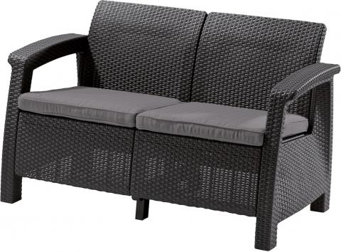 products/Диван садовый Keter CORFU II LOVE SEAT графит 17197359G
