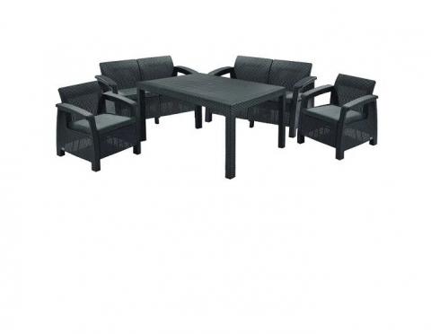 products/Комплект садовой мебели Keter CORFU II FIESTA графит (3 коробки) 17198008G