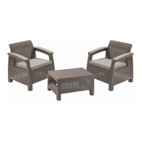 products/Комплект мебели Keter CORFU II WEEKEND SET cappuccino 17197786С