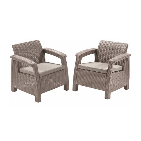 products/Кресла садовые Keter CORFU II DUO cappuccino 17197993C