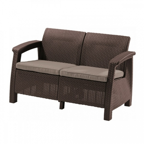 products/Диван садовый Keter CORFU II LOVE SEAT brown 17197359B